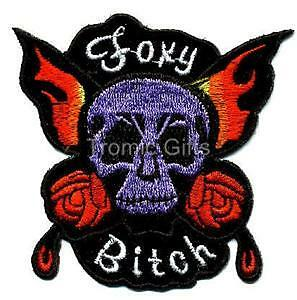 Foxy Bitch Skull Choppers Biker Motorcycle Patch TG454