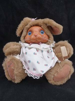 ROBERT RAIKES ASHLEY PLUSH WOOD SMALL BABY BUNNY RABBIT TAGS 1988