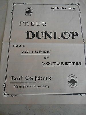 Catalogue pneus Dunlop 1909