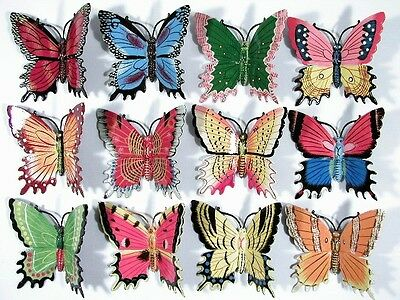 "Wholesale Pack 6"" Assorted Butterfly Wall Mount Decor Sculpture 24B (Set of 12)"