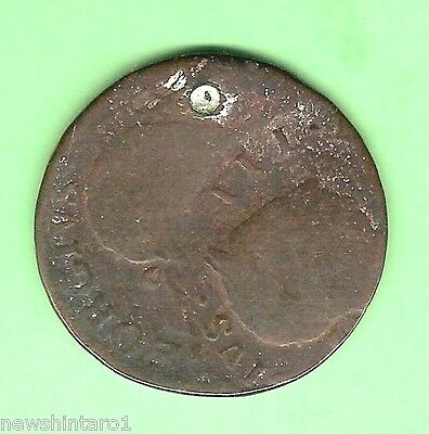 #D41. Unique 1776 Irish Halfpenny Double Strike Error