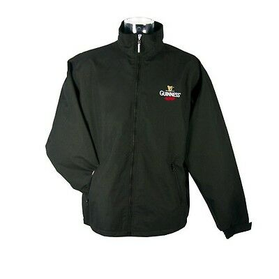 Guinness Fleece Lined Zipped Weather Resistant Jacket New (S-XXXL)