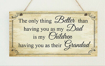 Shabby Plaque Dad Grandad Brother Uncle No 1 Daddy Birthday Gift Sign Chic