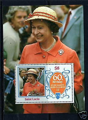 St Lucia 1986 Queens's 60th Birthday MS880 MNH