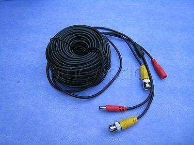 10M BNC RCA DC Video Signal Extension Lead Power Cable For Security CCTV Camera