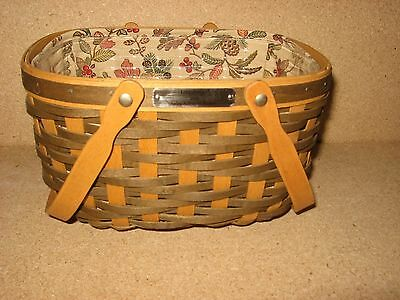 Longaberger 2008 Sales Achiever Award/Incentive Basket, Protector and Liner MINT