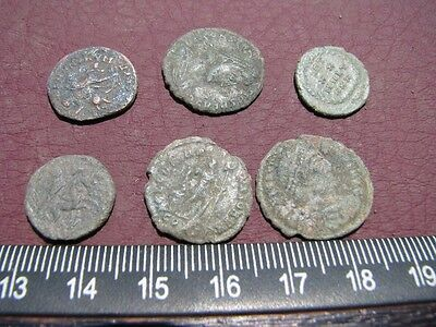 6 HQ Ancient Roman coins + 4 oz. Mint State Restoration Coin Cleaner MSR 060