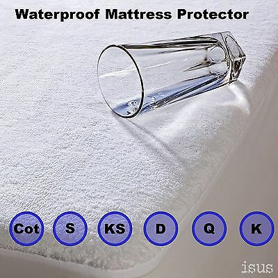 Deep Wall Fitted Waterproof Terry Towelling Mattress Protector - Allergy Free