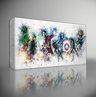 THE AVENGERS MARVEL - Premium Giclee CANVAS Wall Art Picture Print