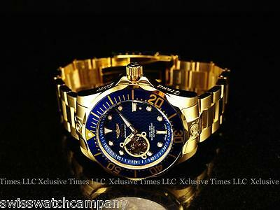 NEW! Invicta Men's GRAND DIVER 18K Gold IP NH38A Automatic 24J Bracelet Watch