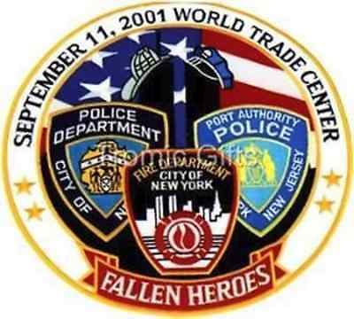 Fallen 9-11 Heroes World Trade Center Police Motorcycle Patch LG TG8303