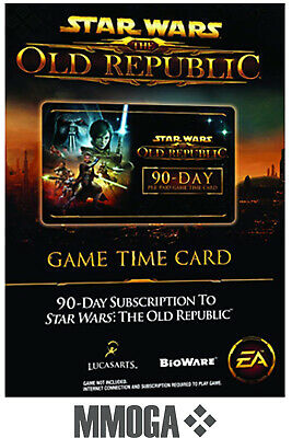 60 Tage SWTOR Star Wars: The Old Republic Gamecard Key / Timecard / Game Time