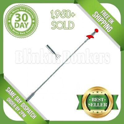 "24"" Flexible Spring Bendy Long Reach Thin Slim Claw Pick Up Tool Lifting Grabber"