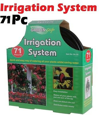 71 Piece Micro Irrigation Kit Automatic Garden Plant Greenhouse Watering System