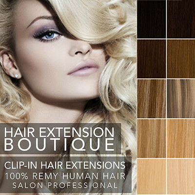 Lush Hair Extensions Remy Clip In Human Hair  Full Head Deluxe Ultimate
