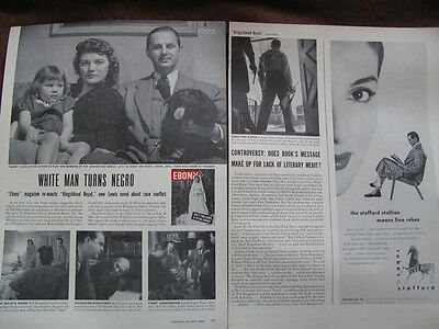 WHITE MAN TURNS NEGRO LIFE MAG REPORT OF EBONY MAG ARTICLE  1947