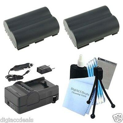 BP-511 Equivalent Replacement Battery 2-Pack + Charger for Canon 20D 30D 40D 50D