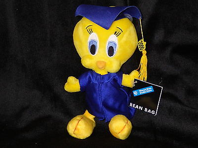 Tweety graduate bean bag plush Looney Tunes Warner Store  new with tags rare