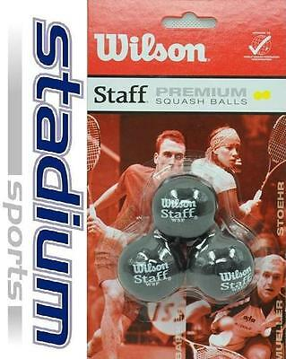 12 Balls = 4 Packs - Wilson Squash Ball - 2 Yellow Dots - Tournament Grade