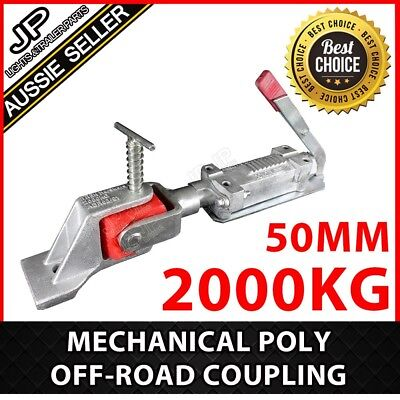 Mechanical Poly Off-Road Coupling Hitch Complete Zinc 50Mm 2000Kg Trailer Part