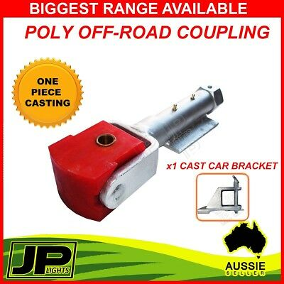 Poly Off-Road Trailer Hitch Zinc Coupling Weld-On  50Mm 2T Rated Trailer Caravan
