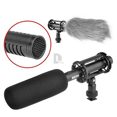 Pro BOYA Condenser Shotgun Microphone BY-PVM1000 3-pin XLR Output on DSLR Camera