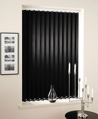 Black Vertical Blinds - Made To Measure Black Vertical Blinds Using 89mm Slats