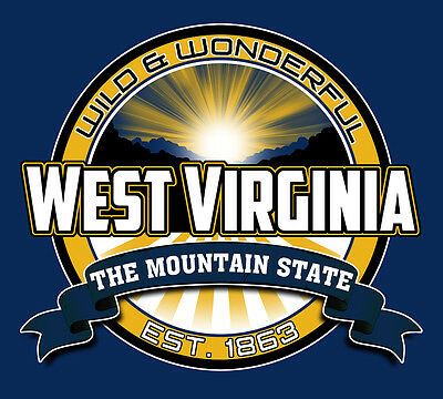 wild wonderful west virginia mountain state decal