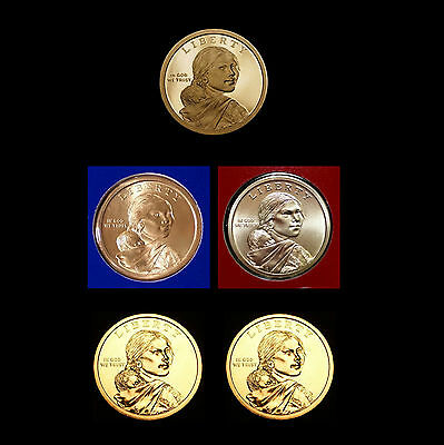 2012 P+D+S Native American Sacagawea Mint Proof Set ~ PD from Mint Set & Rolls