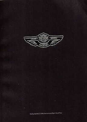 HARLEY DAVIDSON-100th Anniversary Open Road Tour Programme-Brand New