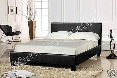 Prado Black Brown Single,Double,4FT,KING Size Bed with Memory Mattress or budget
