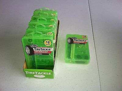 """6 Slime 14 Piece Tire Tackle Tire Repair Kits """"new"""""""