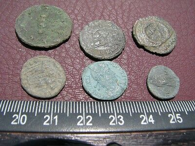 6 HQ Ancient Roman coins + 4 oz. Mint State Restoration Coin Cleaner MSR 088