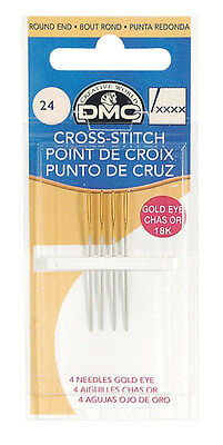 Size 22 Dmc Gold Eye Cross Stitch Needles Pack Of Four Free Uk Post & Packing