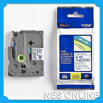 Brother TZ-133 P-touch Labelling Tape 12mmx8M PT-1010 TZe133 BLUE-O-Clear TZe133