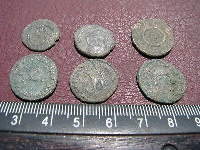 6 HQ Ancient Roman coins + 4 oz. Mint State Restoration Coin Cleaner MSR 086