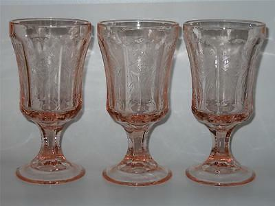 Indiana ~ Recollection Madrid ~ Pink Glass Goblets (3)