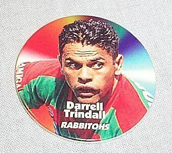 1997 Rugby League Tazo  #13 Darrell Trindall, South Sydney Rabbitohs