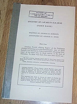 Ancestry Of Latakuts Kalahar  - Chief Fancy Eagle by George  Roberts  PB  c1931
