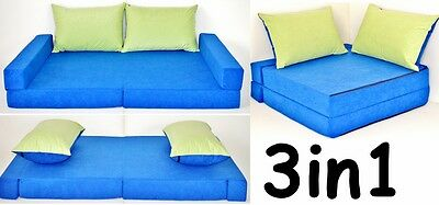 New Collage Kids Sofa Bed 160Cm Futon  Double Childs Sleep Over Guest Mattress