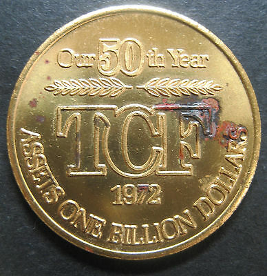 "Vintage 1972 ""Twin Cities Federal"" Savings & Loan 50th Anniversary Token Medal!"