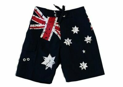 Kids Boys Board Shorts Australian Australia Day Souvenir Beach Shorts – Flag