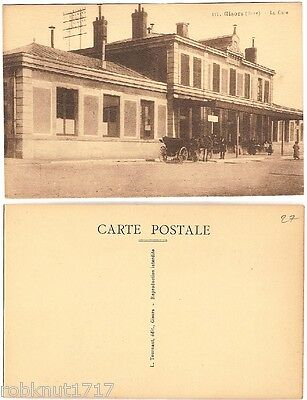 CPA L Tournant édit. postcard station attelage Gare GISORS Eure Normandie 800 A