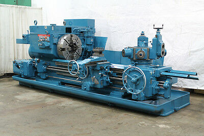 "29.5"" Swing x 72"" Center Warner & Swasey 4A 12.5"" Hole Saddle Type Turret Lathe"