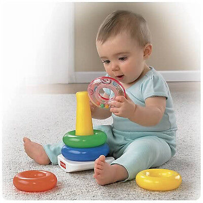 Fisher price Rock-A-Stack brilliant basics high up baby plastic toy fun gift 1pc