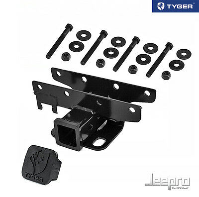 TYGER OE-Style 2inch Receiver Towing Trailer Hitch & Cover Fit 07-14 Wrangler JK
