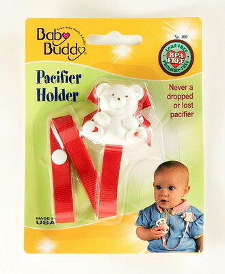 Baby Buddy Pacifier Holder Red