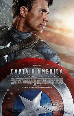 CAPTAIN AMERICA Version B Original DS 2 Sided 27X40 Movie Poster Chris Evans NEW