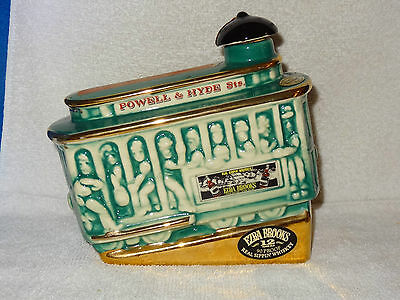 Ezra Brooks Decanter- Powell & Hyde Sts. Tram Car- Heritage China- 1968- USA