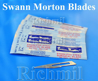 Swann Morton Surgical Scalpel Blades Sterile Stainless+ Non Sterile Carbon Steel